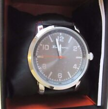 BEN SHERMAN WATCH BLACK COLOUR LEATHER STRAP & SILVER FACE BRAND NEW RRP $70