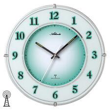 Atlanta 4299 Wanduhr Funk grün schleichende Sekunde Mineralglas Licht-Sensor
