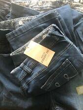 Ladies Plus Size Straight Cut Blue Denim Jeans 16 18 20 22 24 26 28 30 32 Crop