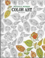 Botanical Wonder Color Art  Coloring Book