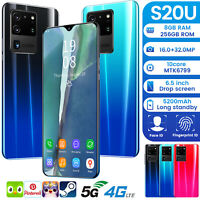 S20U 6.5 In 5G Unlocked Android 10 Cheap Mobile Smart Phone Dual SIM 10Core 2020