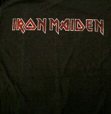 IRON MAIDEN cd cvr DISTRESSED CLASSIC LOGO Official SHIRT SMALL new