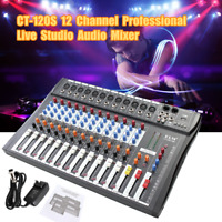 12 Channel USB Audio  Sound Mixer Equalizer Digital Mic bluetooth Mixing