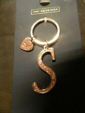 *New in packaging* 'Next' Rose Gold Glitter Keyring, Letter 'S'