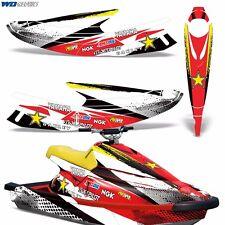 Decal Graphic Kit Yamaha Jet Ski WB 700 Wrap Jetski Parts Wave Blaster 93-96 RS