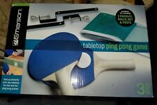NEW In Box Emerson Tabletop Ping Pong Game Set