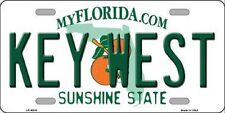 KEY WEST Florida State Background Metal Novelty License Plate