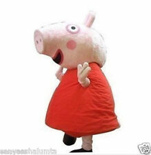 Adult size suit Actual photo red peppa pig mascot Costume EPE Head+EMS Shipping