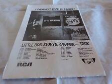 LITTLE BOB STORY & GANAFOUL - Publicité / Advert !! VINTAGE 70'S !!