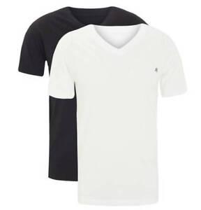 REPLAY Confezione BiPack 2 T-Shirt con Logo 100% Cotone Stretch Scollatura a V
