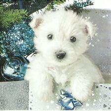 4x Paper Napkins for Decoupage Decopatch Christmas Dog Sweet