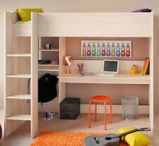 Hochbett CHARLY - mit integriertem Schreibtisch/Ablagefächer - B207xH180xT111 cm