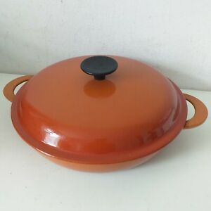 Le Creuset Shallow Casserole Dish Orange Size 26 cm with Lid VGC