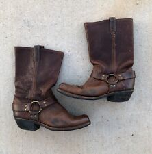 Preowned Frye Women's Harness Brown Boots size 10
