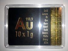 1g Feingold Barren 999,9 Gold 1 Gramm Weihnachten Combibar Tafelgold