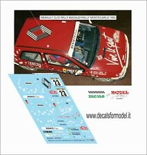 DECALS 1/43 RENAULT CLIO GR. A MAGAUD RALLY MONTECARLO 1992
