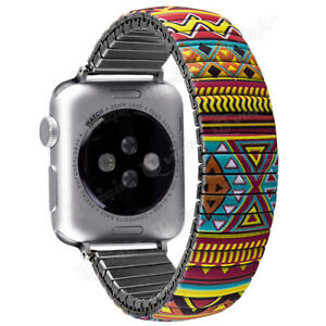 For Apple Watch Iwatch 40 44MM Elastic Stainless Steel Stretch Watch Strap Band