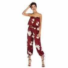 Clubwear Floral Trousers Party Ladies Casual Bodysuit Jumpsuits Overall Pants