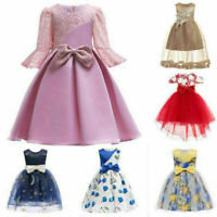 Flower Girl Dress Princess Pageant Wedding Bridesmaid Gown Party Tutu Dresses