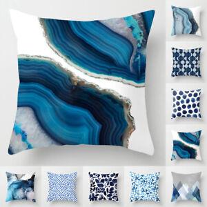 Blue Pillowcase Cushion Throw Sofa Cover Gift Pillow Case Sofa Car Home Decor