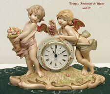 FONTANINI DEPOSE ITALY RARE 1991 MANTEL CHERUB CLOCK GERMANY w/BATTERY 65239