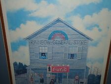 """82 Jack Meyers """"Rainbow Store"""" signed and dated print"""