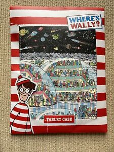 BNWT New Where's Wally Tablet Case Pouch - Padded Wipe Clean