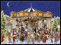 Chart Needlework DIY - Counted Cross Stitch Patterns - The Christmas Carousel 2