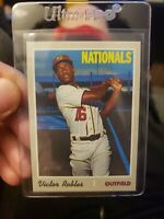 VICTOR ROBLES 2019 TOPPS HERITAGE HIGH NUMBER #701 SP NATIONALS.