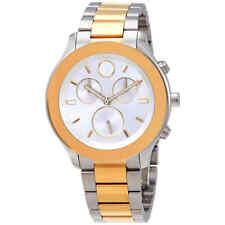 Movado Bold Chronograph Quartz Silver Dial Ladies Watch 3600546
