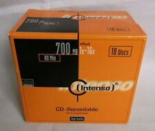 Intenso Recordable CD  700mb 80 Minutes 1x - 16x Multi Speed 10 Blank Disks New