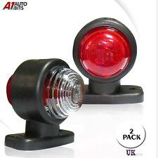 2 Side Marker Lights Trailer Truck Lorry E-Marked 0140B 12V 24V Red White Lamps