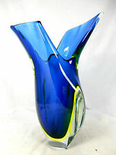 "Well shaped / formschöne  Murano Sommerso Glas "" Zipfel "" Vase  25  cm"
