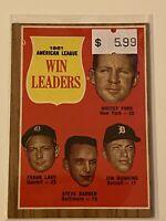 🔥 1962 TOPPS Baseball Card Set #57 WINS LEADERS 🔥 NEW YORK YANKEES WHITEY FORD