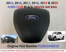 2015 2016 2017 2018 2019 2020 FORD F-150 DRIVER STEERING WHEEL AIRBAG BLACK OEM