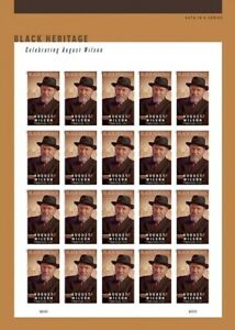 US 5555a Black Heritage August Wilson imperf NDC sheet MNH 2021