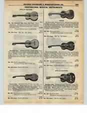1937 PAPER AD Stella Brand Guitar Standard Tenor Grand Concert Violin Bow
