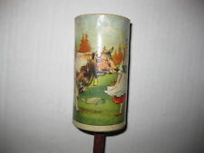 Vintage Wood Noise Maker Baby Rattle Halloween New Year's Dairy Cow Handmade