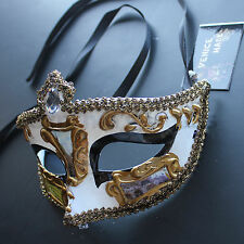 Black Classical Venetian Masquerade Mask Party Prom Mardi Gras Halloween Costume