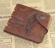 mens Bifold Leather Wallet Pockets Card Clutch Cente Money Clip Cad Holder Purse
