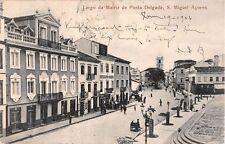 Portugal postcard S. Miguel-Acores Azores, Largo da Matriz de Ponta Delgada 1906