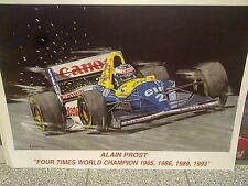Alain Prost, 4 times World Champion 1985 / 1986 / 1989 / 1993 by Eric-Jan Kremer