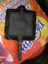 Rare Vintage Old Squar Waffle Iron Stovetop Cast Iron  CSENG NGON LEE No.8