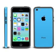 Black Blue Soft TPU Protector Bumper Frame Snap Case Cover for Apple iPhone 5C