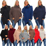 Poncho Strick Sweatshirt Pullover Umhang Überwurf 36 38 40 S M L 11 Farben