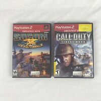 PlayStation 2 PS2 SOCOM US Navy Seals Call of Duty Finest Hour complete tested