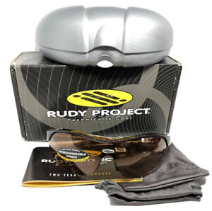 Rudy Project Ability Sunglasses, Ivory Frames / Laser Brown Lens NEW