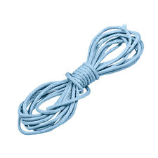 Waxed Round 1mm Cotton Jewellery Cord Baby Blue 1 Metre (N82/7)