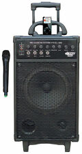 "Pyle 800W 10"" Woofer VHF Wireless Portable PA Speaker System/Echo AUX iPod Dock"