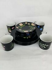 TIFFANY & CO. MRS. DELANY'S FLOWERS (Connolly) Three Piece Dessert Set for Four!